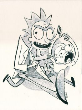Rick and Morty by quick2004