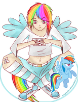 Rainbow Dash Humanization by Seaqwater
