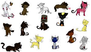 TC kitties art-dump-ish-thing by Bonday