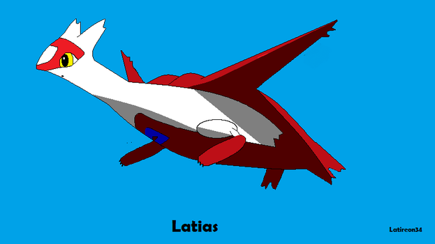 Latias re-make by LatireonTheLatios