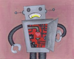 Even robots have hearts... by FLAMINGPINECONE