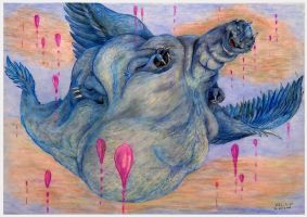 Fat Saphira in magic flying by SSsilver-c