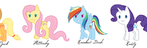 MLP Chibis by ZombifiedTorment