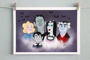 The Munsters | Print by CaptainChants