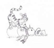Tiger and the Snowman by caitiedidd