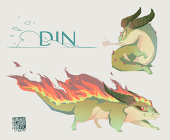 Din on fire by liea