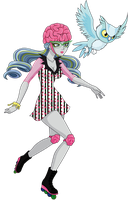 Ghoulia Yelps Skultimate Roller Maze by sparks220stars