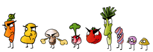 Greenvasion: crazy vegetables and candy zombies by NiennaPixiesdance