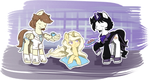 Commission - Tea and cookies for the lady by Reporter-Derpy