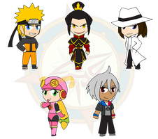 Assorted Chibis - Good, Evil and Wren by Dragon-FangX