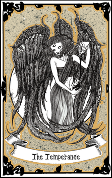 Tarot | XIV - The Temperance by LittleGoa-t