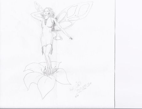Another fairy drawing by Lenscoveredeye