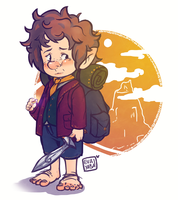 Bilbo Baggins! Bravest little hobbit of them all! by evaYabai