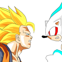 SSJ3 GOKU VS HYPER SONIC without BG FX by kaiserkleylson