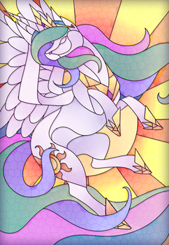 Celestia Stained Glass by Scarlet-Spectrum