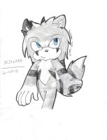 Blizzard the Wolf by Sonikae-the-Wolf