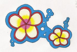 Plumeria Decal or Patch by kettish
