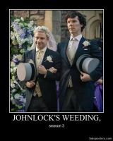 johnlock's weeding by Theavengercoat