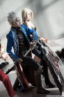 Vergil and Trish by KOCosplay