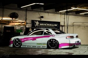 Nissan-silvia-s13-drift by Alien-design