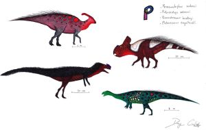 The Dinosaur Alphabet: P by Dennonyx