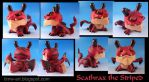 Scathrax the Striped, dragon dunny custom by Timbone