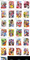 Marvel HandV Sketchcards 2of2 by PencilInPain
