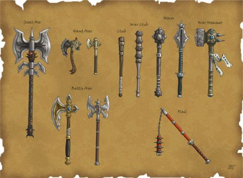 DS: Hafted Weapons by willowWISP