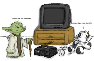 Yoda and Cow - Colored by tibbers