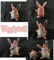 Wigglytuff Sculpture: Collage by ClayPita