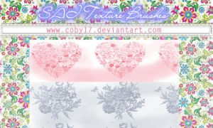 Sai Brushes Heart and Flowers Vintage by Coby17