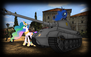 wallpaper: WOT/MLP crossover (screen 12) by crasydwarf
