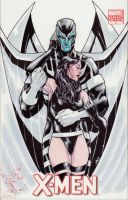 archangel and psylocke by lazeedog