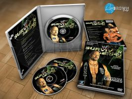 DVD Packaging Mockup #1 | WWF Survivor Series 2000 by BenBrownDesign