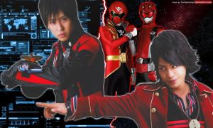 Red Buster and Gokai Red by YorkeMaster