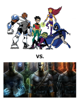 Teen Titans vs. Deathstroke Clan by Tito-Mosquito