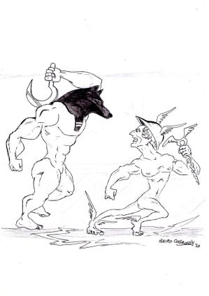 Anubis and Hermes