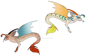 Dragoncats Set Price - Points - 2/2 Open by Artzy-Adopts