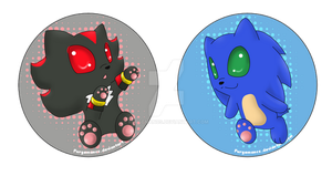 Sonic and Shadow button by Furgemancs