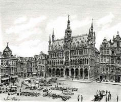 Grand Place Brussels by reesmeister