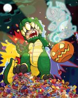Halloween rampage by Puzzletoad