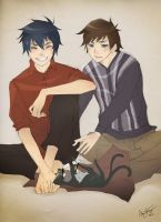 Ao no Exorcist: Brothers by bluevermillion