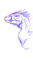 Gruff raptor sketch by albinoraven666fanart