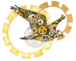 Steampunk Bird by NoraBlansett