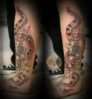 Music Micro note Star Tattoo by 2Face-Tattoo