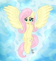 MLP FIM - Shy Fluttershy In The Sky by Joakaha