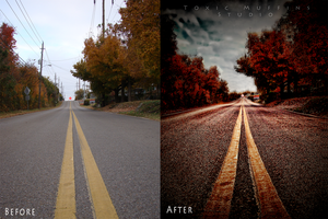 Before and After of The Road to No Where by Toxic-Muffins-Studio