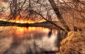 River Sunset by IraMustyPhotography