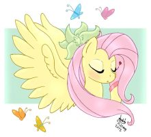 MLP FIM - Fluttershy and her Butterflies by Joakaha