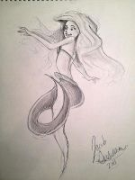Ariel sketch 1 by Bubblesaurus-rex
